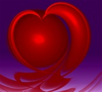 This deep red heart, on a dark magenta background, is an appropriate symbol for the ultimate sacrifice.