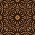 This low-key, monochrome design in brown and gold is made from our Almond Spiral fractal. Tile it for giftwrap, wallpaper, or textile designs.