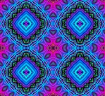 This kaleidoscopic background pattern, in vibrant shades of blue and pink, was made from our Rainbow Tree fractal.  It would be great for fabric or textiles!