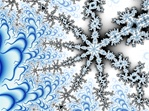 This blue and white fractal is strongly suggestive of snowflakes, ice crystals, and the crisp cold of winter.