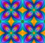 This abstract fractal swatch has tropical parrot colors. It was made from our Macaw fractal. Tile it for giftwrap, wallpaper, or textile designs.