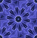 This daisy-like blue floral background pattern was made from our <em>Seed Pearls</em> fractal. Tile it for giftwrap, wallpaper, or fabric or textile designs.